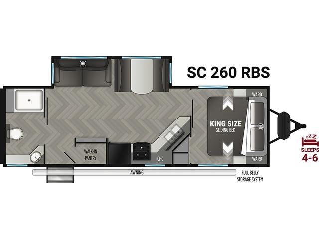 Shadow Cruiser Travel Trailer Model 260RBS by Cruiser RV Floorplan