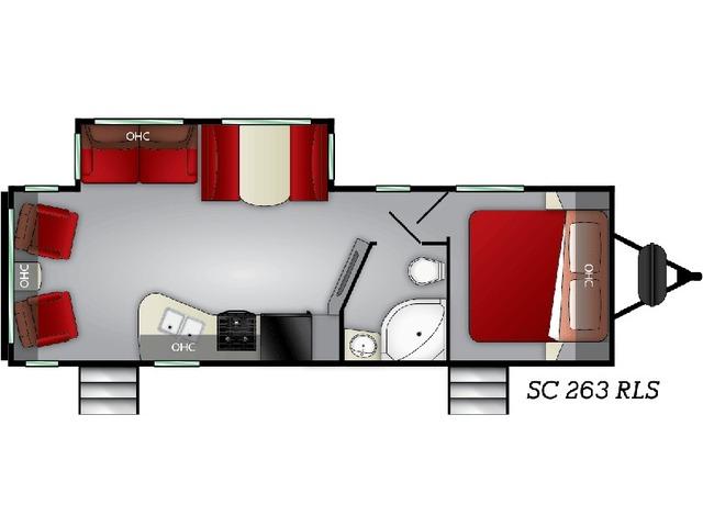 Shadow Cruiser Travel Trailer Model 263RLS by Cruiser RV Floorplan