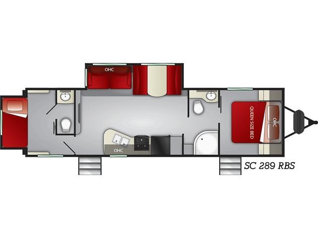 Shadow Cruiser Travel Trailer Model 289RBS by Cruiser RV Floorplan