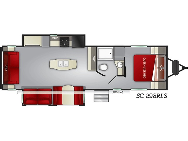 Shadow Cruiser Travel Trailer Model 298RLS by Cruiser RV Floorplan
