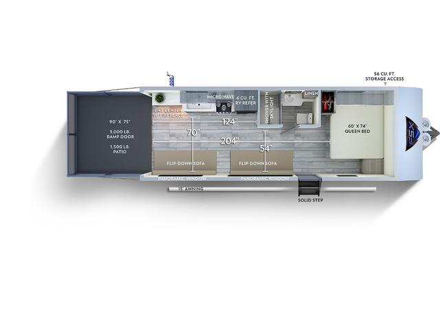 Salem FSX Toy Hauler (Travel Trailer) Model 190RT by Forest River Floorplan