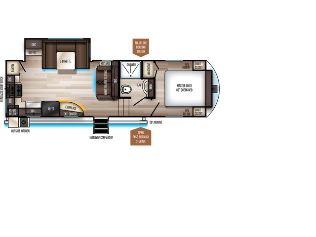 Sabre SS150 Fifth Wheel Model 261RK by Forest River Floorplan