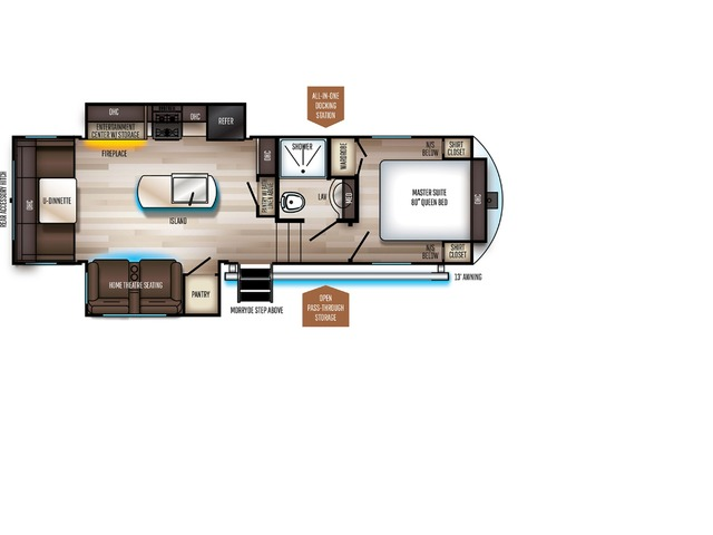 Sabre SS150 Fifth Wheel Model 270RL by Forest River Floorplan