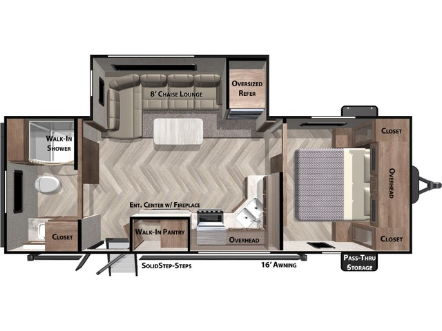 Salem Travel Trailer Model 22RBS by Forest River Floorplan