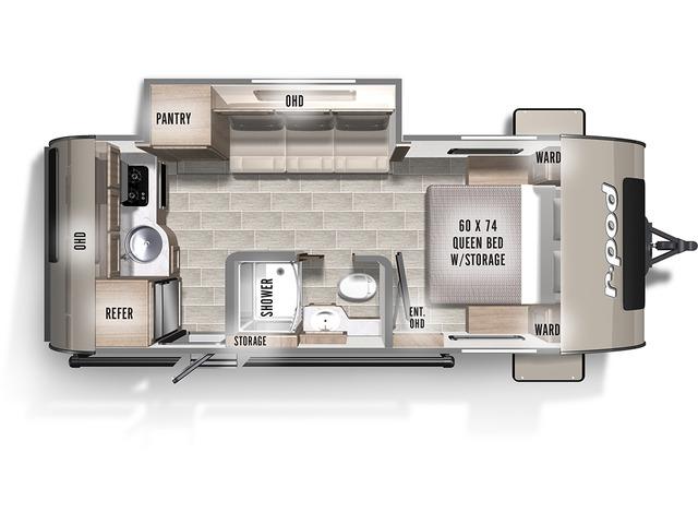 R-Pod Travel Trailer Model 196 by Forest River Floorplan