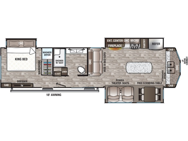 Cottage Park Trailer Model 40CFK2 by Forest River Floorplan