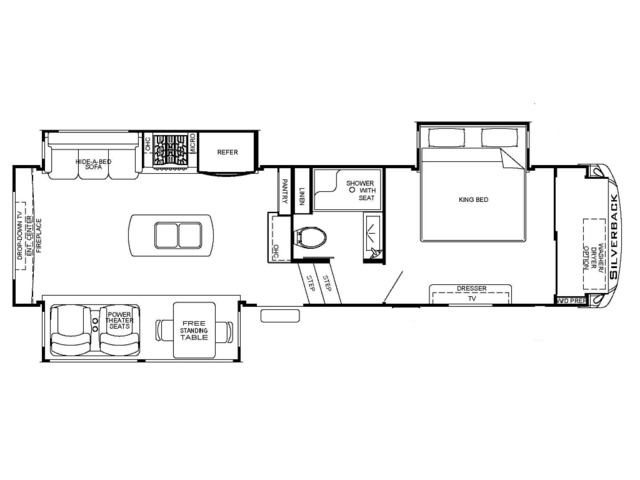 Silverback Fifth Wheel Model 29RW by Forest River Floorplan