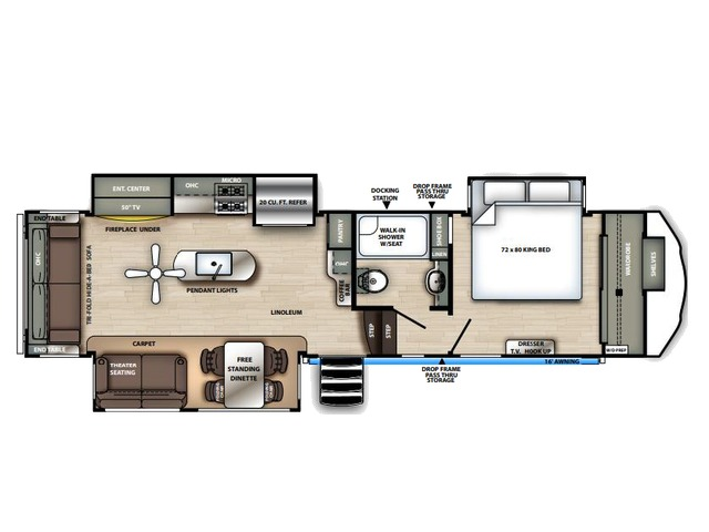 Sierra Fifth Wheel Model 321RL by Forest River Floorplan