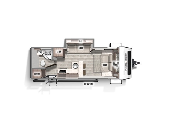 No Boundaries (NOBO) Travel Trailer Model NB19.6 by Forest River Floorplan