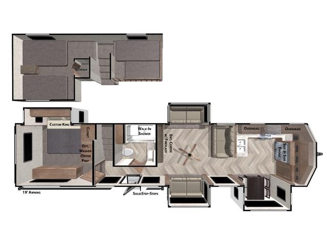 Salem Grand Villa Park Trailer Model 42FK by Forest River Floorplan