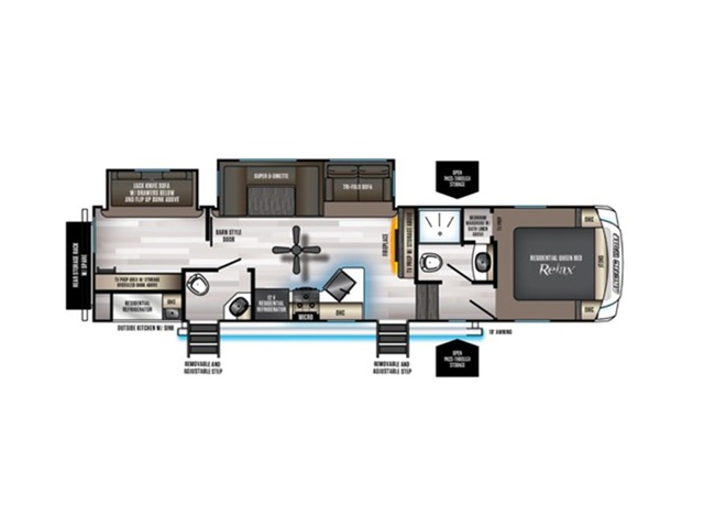 Arctic Wolf Fifth Wheel Model 321BH by Forest River Floorplan