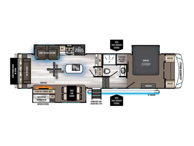 Arctic Wolf Fifth Wheel Model 3550SUITE by Forest River Floorplan