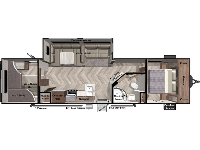 Salem Travel Trailer Model 29VBUD by Forest River Floorplan