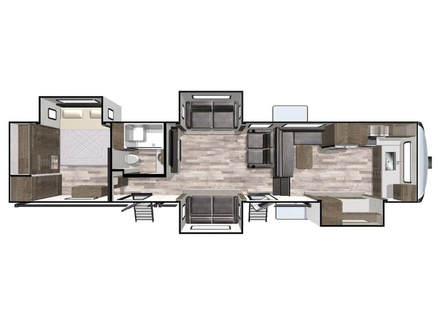 Cardinal Limited Fifth Wheel Model 402FKLE by Forest River Floorplan