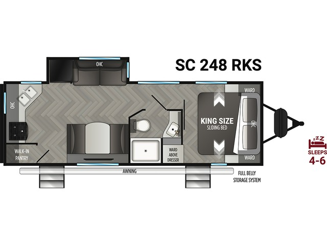 Shadow Cruiser Travel Trailer Model 248RKS by Cruiser RV Floorplan