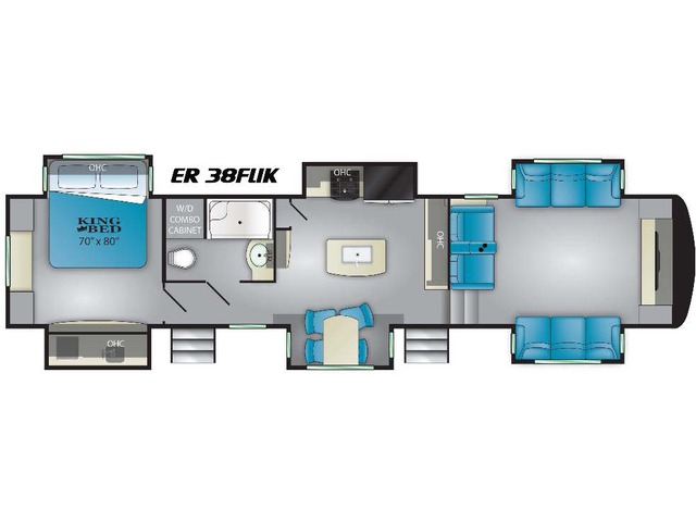 Elkridge Fifth Wheel Model 38FLIK by Heartland Floorplan