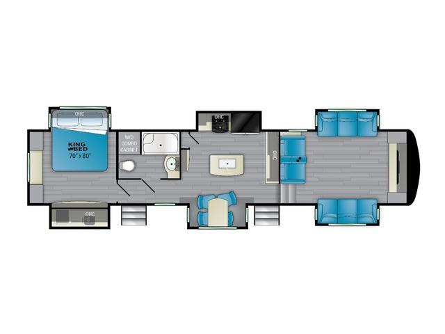 Elkridge Fifth Wheel Model 38FLIK by Heartland Floorplan