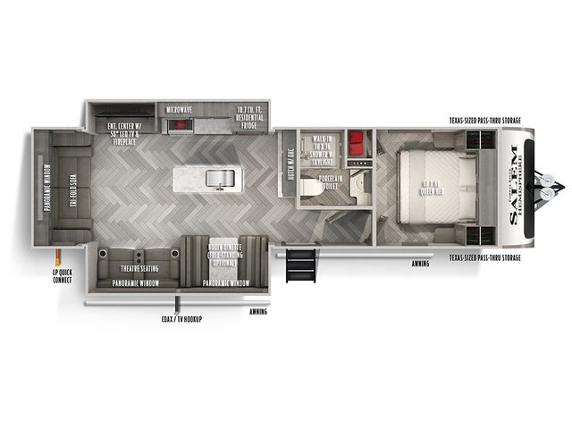 Hemisphere Travel Trailer Model 271RL by Forest River Floorplan