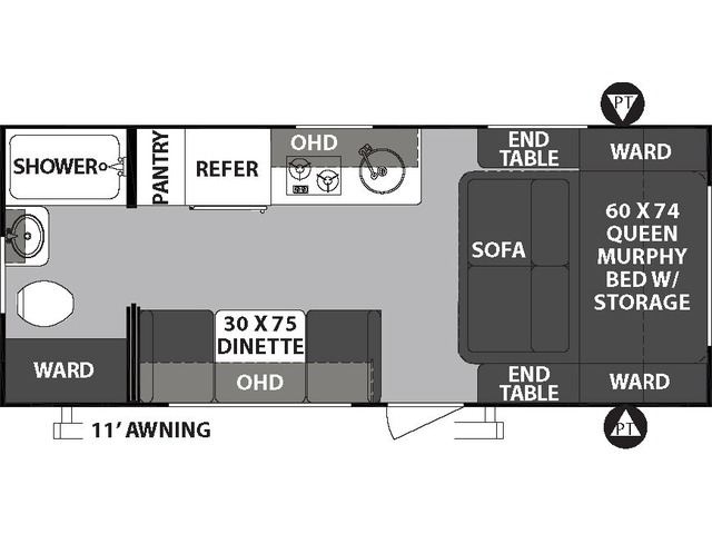 R-Pod Travel Trailer Model 192 by Forest River Floorplan