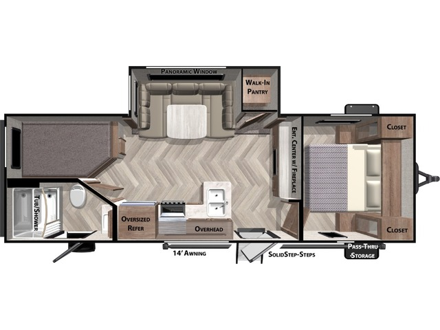 Cruise Lite Travel Trailer Model 240BH by Forest River Floorplan