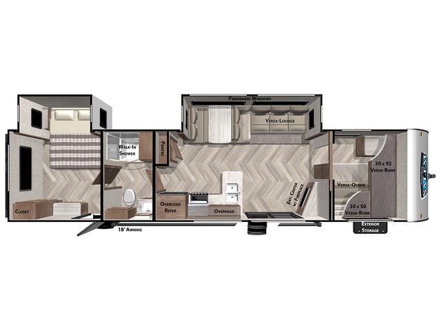 Salem Travel Trailer Model 36VBDS by Forest River Floorplan