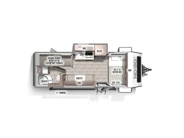 No Boundaries (NOBO) Travel Trailer Model NB16.6 by Forest River Floorplan