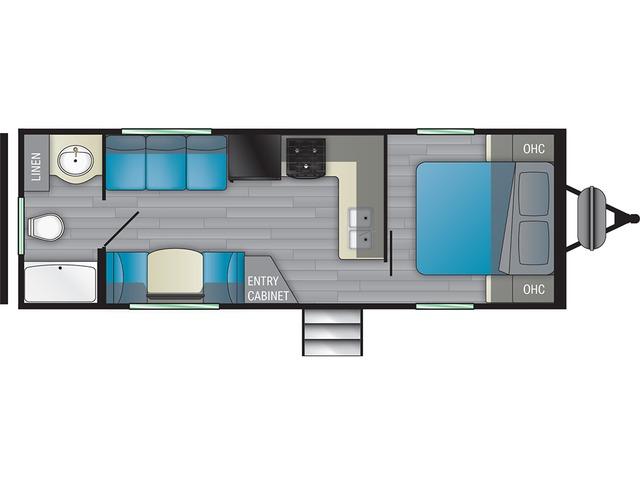 Prowler Travel Trailer Model 240RB by Heartland Floorplan
