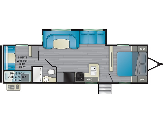 Prowler Travel Trailer Model 303BH by Heartland Floorplan