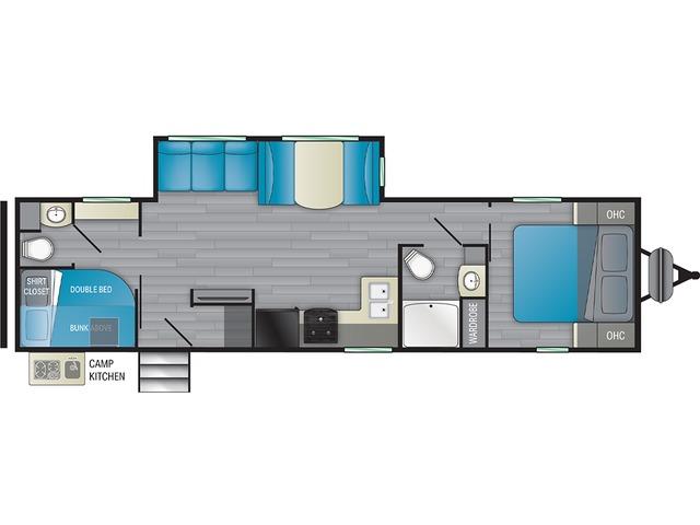 Prowler Travel Trailer Model 315BH by Heartland Floorplan