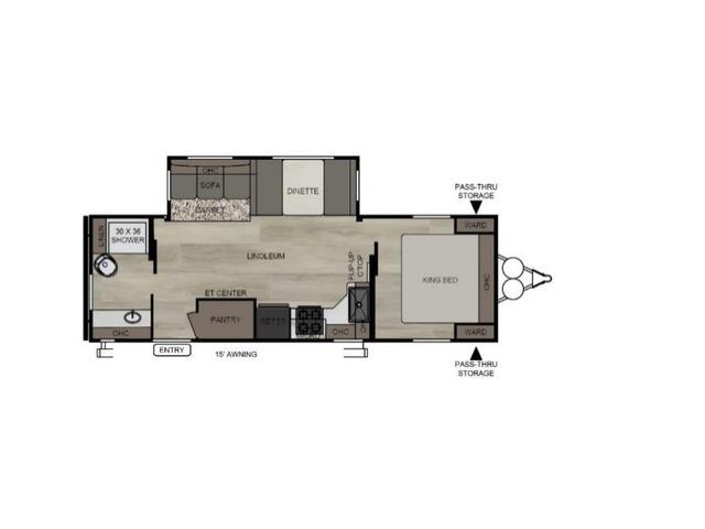 Della Terra Travel Trailer Model 261RB by East to West Floorplan