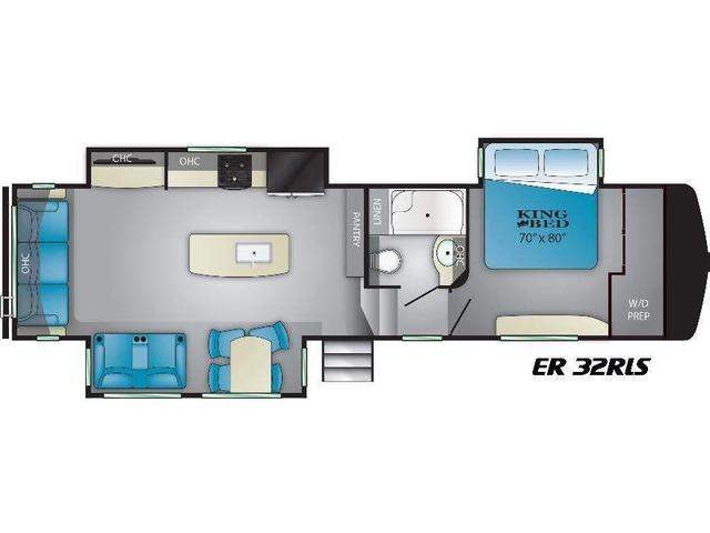 Elkridge Fifth Wheel Model 32RLS by Heartland Floorplan