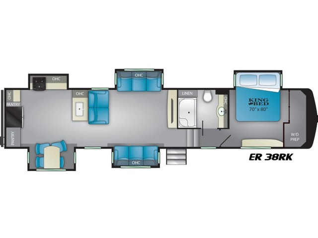 Elkridge Fifth Wheel Model 38RK by Heartland Floorplan
