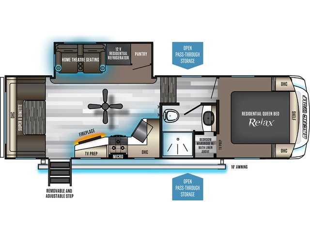 Arctic Wolf Fifth Wheel Model 251MK by Forest River Floorplan