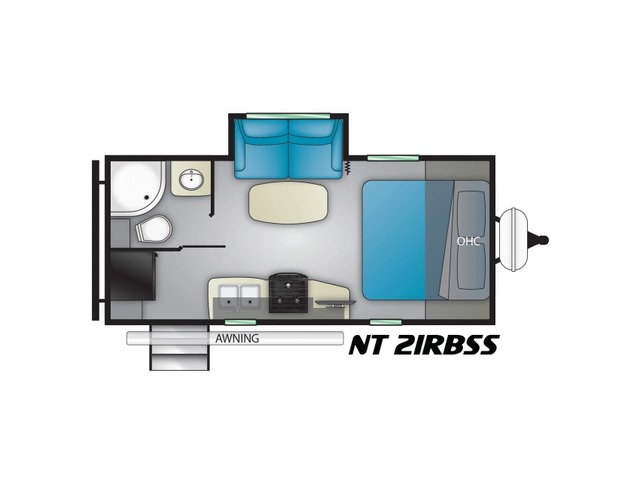 North Trail Travel Trailer Model 21RBSS by Heartland Floorplan