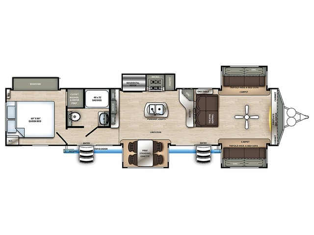 Sierra Park Trailer Model 420FL by Forest River Floorplan