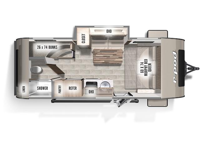 R-Pod Travel Trailer Model 193 by Forest River Floorplan