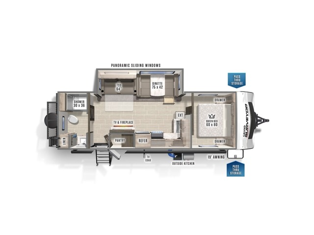 Grand Surveyor Travel Trailer Model 267RBSS by Forest River Floorplan