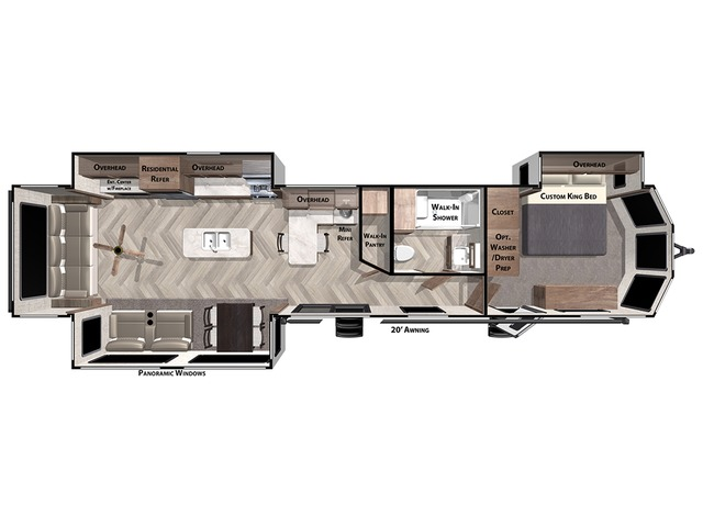 Salem Villa Park Trailer Model 40RLB by Forest River Floorplan