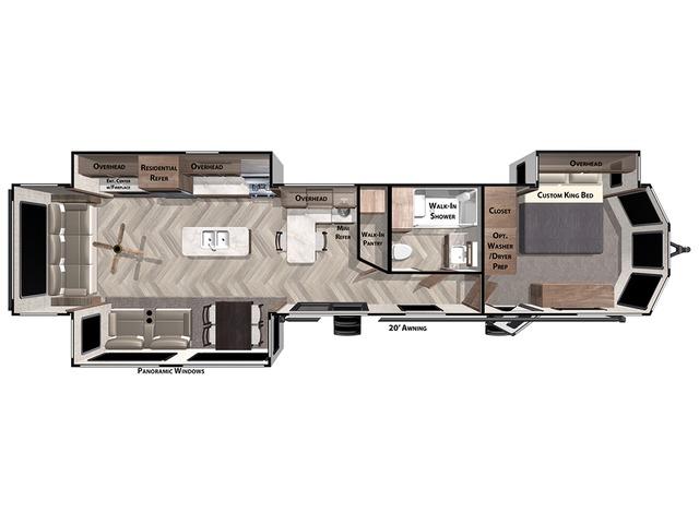Salem Villa Park Trailer Model 40RLB by Forest River Floorplan