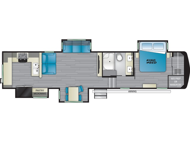Big Country Fifth Wheel Model 3703RK by Heartland Floorplan