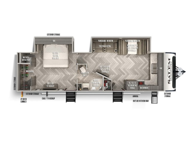 Hemisphere Travel Trailer Model 270FKS by Forest River Floorplan