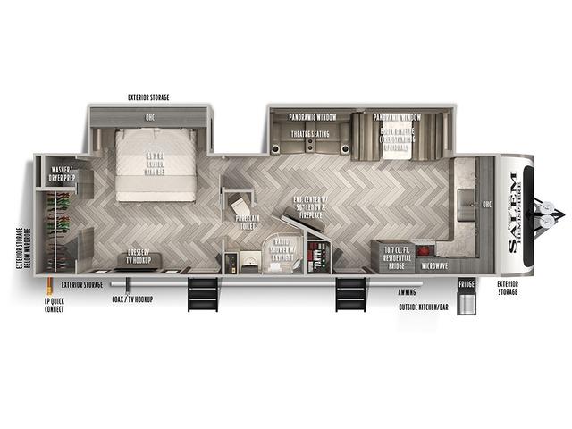 Hemisphere Travel Trailer Model 270FKS by Forest River Floorplan