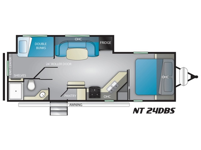 North Trail Travel Trailer Model 24DBS by Heartland Floorplan