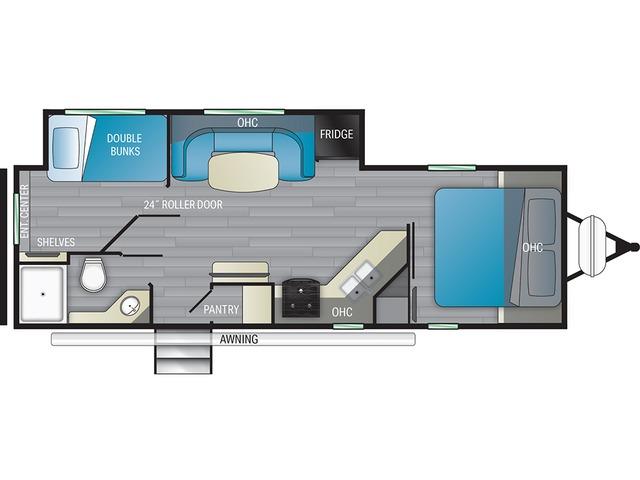 North Trail Travel Trailer Model 24DBS by Heartland Floorplan