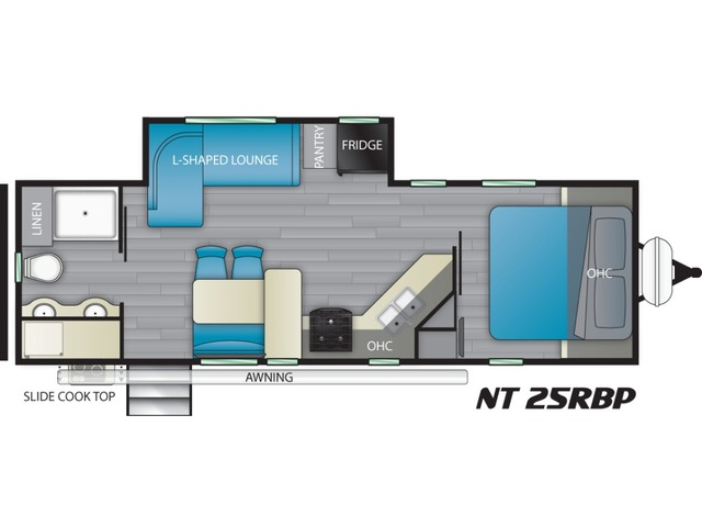 North Trail Travel Trailer Model 25RBP by Heartland Floorplan