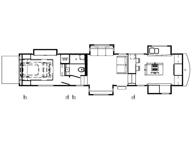 Riverstone Fifth Wheel Model 42FSKG by Forest River Floorplan