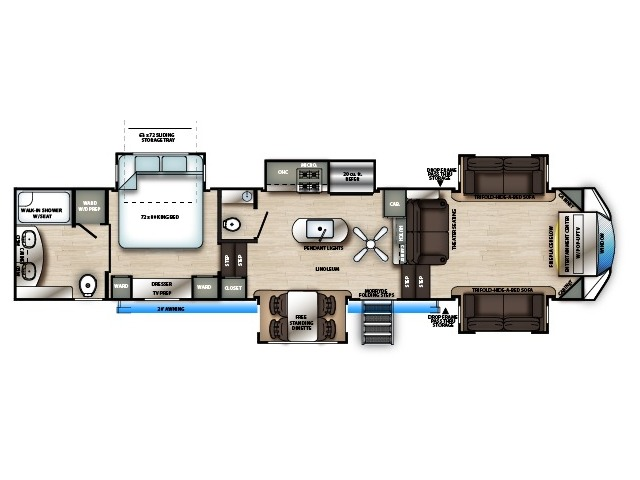 Sierra Fifth Wheel Model 391FLRB by Forest River Floorplan