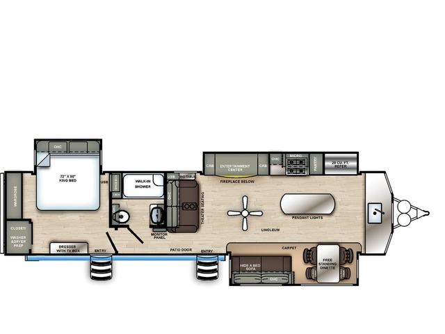 Sierra Park Trailer Model 402FK by Forest River Floorplan