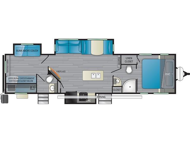 North Trail Travel Trailer Model 33BHDS by Heartland Floorplan