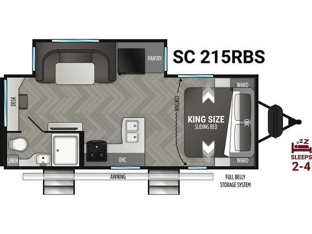 Shadow Cruiser Travel Trailer Model 215RBS by Cruiser RV Floorplan